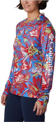 Columbia Women Pfg Super Tidal Tee Printed Hoodie