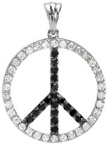 DazzlingRock Collection 1.00 Carat (ctw) 10K White Gold Round & White Diamond Peace Circle Pendant