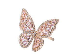 Eye Candy Los Angeles Eye Candy La Stunning Cz Butterfly Ring