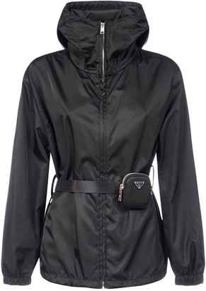 Prada Belted Pouch Hooded Jacket