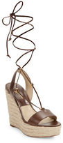 Michael Kors Clive Leather Wedge Espadrille Sandals