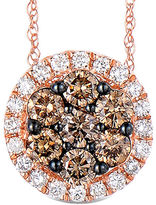 FINE JEWELRY LIMITED QUANTITIES 1 CT. T.W. White and Color-Enhanced Champagne Diamond Pendant Necklace