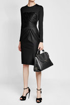 Max Mara Virgin Wool Dress with Leather
