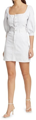 JONATHAN SIMKHAI STANDARD Poppy Puff-Sleeve Denim Mini Dress