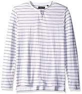 Kenneth Cole New York Men's MARL Stripe Henley