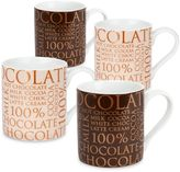 "Konitz 100% Chocolate"" Mugs (Set of 4)"