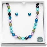 Honora Style 8MM-9MM Peacock Pearl Earrings and Necklace Set