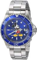 Invicta Men's 'Disney Limited Edition' Automatic Stainless Steel Casual Watch, Color:Silver-Toned (Model: 24608)