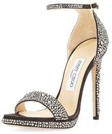 Jimmy Choo Kaylee Crystal 120mm Pump, Taupe/Gray