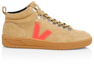Veja Roraima Bastille Mid-Top Suede Sneakers