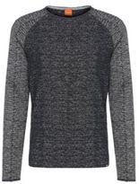 Hugo Boss Welles Cotton Melange Sweatshirt M Blue