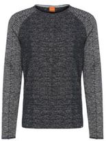 HUGO BOSS Welles Cotton Melange Sweatshirt SBlue