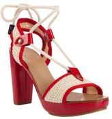SEE BY CHLOÉ - crochet ankle tie platform shoe