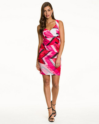 Le Château Abstract Print Knit Cocktail Dress