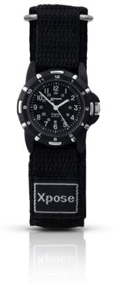 Sekonda Unisex Quartz Watch with Black Dial Analogue Display and Black Nylon Strap 3981.05