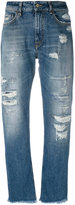 Cycle distressed straight jeans