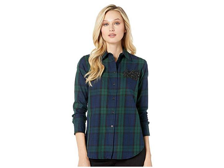 Lauren Ralph Lauren Patch Tartan Cotton Shirt