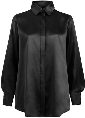 Moye Silk Shirt - Rita Black