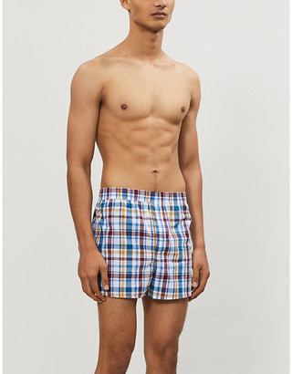 Derek Rose Barker plaid cotton trunks