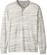 Lucky Brand Men's Long Sleeve Knit Henley in Gray, Heather Grey