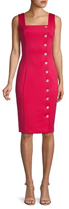 Calvin Klein Button Sheath Apron Dress
