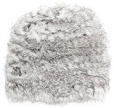 Hat Attack WOMEN'S FUR SLOUCHY HAT-GREY