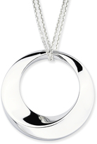 Sterling Silver Circle Pendant Necklace by Boston Bay Diamonds