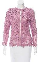 Caban Romantic Suede Appliqué Jacket