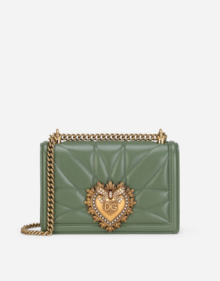 Dolce & Gabbana Medium Devotion Crossbody Bag In Quilted Nappa Leather