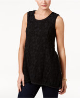Style&Co. Style & Co Lace Sleeveless Top, Only at Macy's