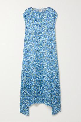 Vetements Floral-jacquard Maxi Dress - Blue