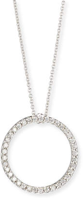 Roberto Coin 18K WG PAVE CIRCLE NECKLACE