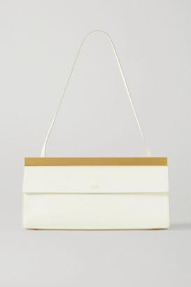 Oroton Jerome Baguette Leather Shoulder Bag - White