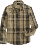GUESS Men's Jake Voile Cotton Plaid Shirt