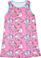 Funkyberry Unicorn & Rainbow Cotton Dress