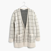 Madewell Ryder Cardigan Sweater in Bird's-Eye Windowpane