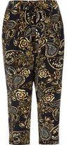 River Island Womens RI Plus khaki floral print tapered pants