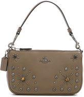 Coach studded clutch - women - Leather - One Size