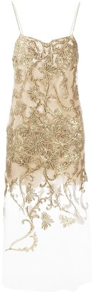 Ermanno Scervino Lace-Panel Sheer Dress