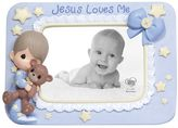 Precious Moments ''Jesus Loves Me'' Boy With Teddy Bear Photo Frame