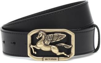 Etro Pegaso leather belt