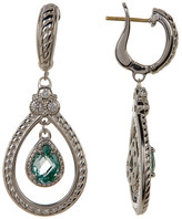 Judith Ripka Sterling Silver Pear Stone Drop Earrings