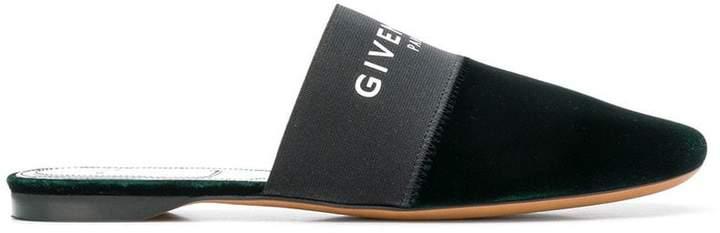 Givenchy velvet logo mules