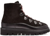 Valentino Rockstud Tread-sole Leather And Suede Ankle Boots