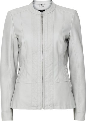 Wallis Grey Faux Leather Jacket