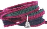 Catherine Michiels Clara Silver Charm & Silk Bracelet Wrap