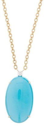 Irene Neuwirth Diamond, Turquoise & 18kt Gold Necklace - Blue