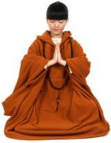 Katuo Meditation Buddhist Hooded Cloak Coat Women Men Outfit Oversize Coat (M, Grey)