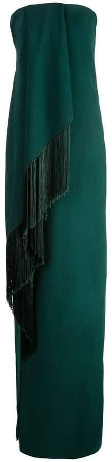 Oscar de la Renta draped asymmetric dress