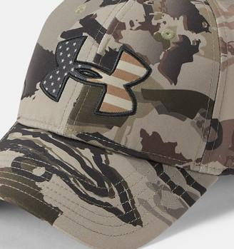 Under Armour Men's UA Camo Big Flag Logo Cap